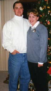 Our 1st married Christmas together.           1996